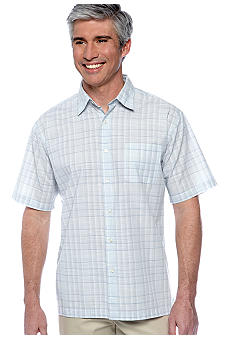 Van Heusen Non-Iron Mini Plaid Faux Linen Shirt