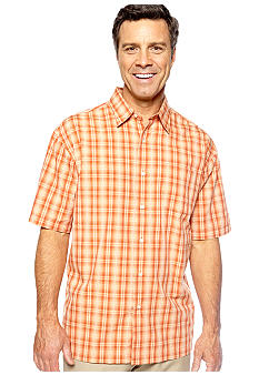 Van Heusen Wrinkle Free Plaid Pucker Woven Shirt
