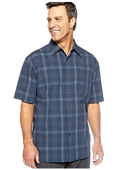 Van Heusen Wrinkle Free Grid Plaid Pucker Woven Shirt