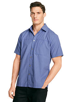 Van Heusen Short Sleeve Traveler Performance Woven Shirt
