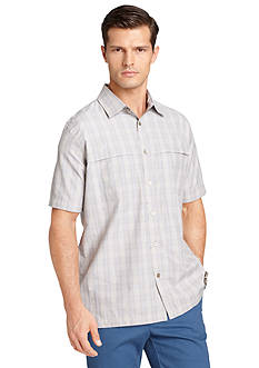 Van Heusen Watercolor Check Short Sleeve Shirt