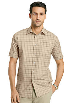 Van Heusen Windowpane Short Sleeve Woven Shirt