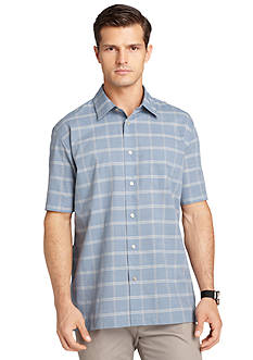 Van Heusen Linen Like Woven Camp Shirt