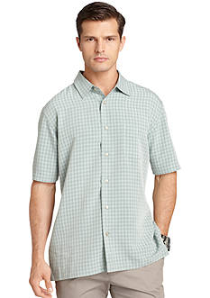 Van Heusen Monochrome Check Button-Front Shirt