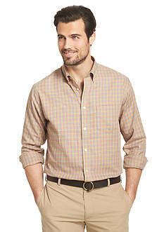 Van Heusen Small Multi-Check Button Down Shirt