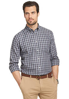 Van Heusen Long Sleeve Plaid Englishman Button Down Shirt