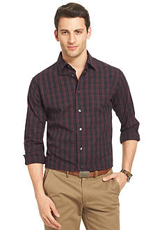 Van Heusen Long Sleeve Night Dobby Plaid Shirt