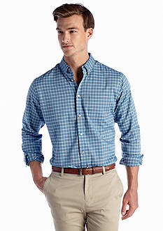 Van Heusen Long Sleeve Royal Oxford Check Woven Shirt