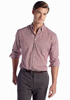 Van Heusen Long Sleeve Royal Oxford Gingham Shirt