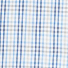 St Patricks Day Outfits For Men: Blue Provence Van Heusen Short Sleeve Gingham Non-Iron Button Down Shirt