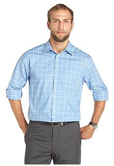 Van heusen wrinkle free traveler blues large plaid shirt for Van heusen plaid shirts