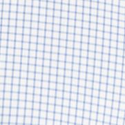Men: Van Heusen Casual Shirts: Crisp Blue Van Heusen Long Sleeve Traveler Woven Ultimate Non Iron Small Grid Shirt