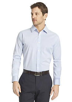 Van Heusen Long Sleeve Traveler Woven Ultimate Non Iron Small Grid Shirt