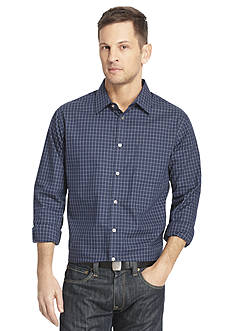 Van Heusen Long Sleeve Woven Ultimate Traveler Non-Iron Large Grid Shirt