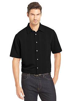 Van Heusen Short Sleeve Rayon Polyester Woven Shirt