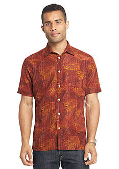 Van Heusen Short Sleeve Leaf Woven Shirt