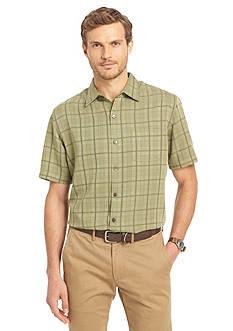 Van Heusen Short Sleeve Windowpane Shirt