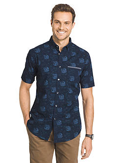 Van Heusen Short Sleeve Print Shirt