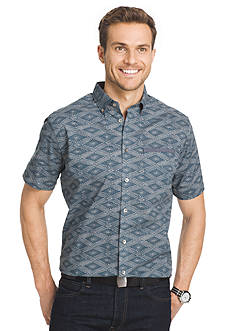 Van Heusen Short Sleeve Printed Woven Shirt