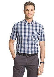 Van Heusen Short Sleeve Plaid Shirt