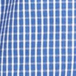 Van Heusen: Blue Mazarine Van Heusen Non-Iron Medium Check Traveler Stretch Shirt