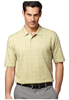Van Heusen Micropoly Windowpane Polo