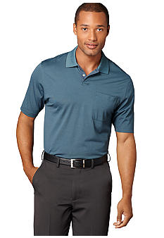 Van Heusen Micro-poly Feeder Solid Polo