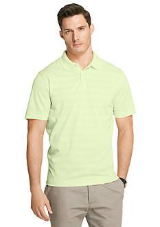 Van Heusen Shadow Stripe Knit Short Sleeve Polo