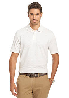 Van Heusen Short Sleeve Diamond Jacquard Polo Shirt
