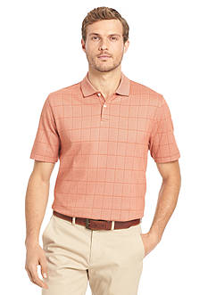 Van Heusen Window Pane Polo Shirt