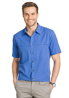 Van Heusen Big & Tall Short Sleeve Traveler Camp Woven Shirt