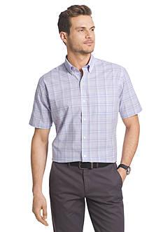 Van Heusen Big & Tall Short Sleeve Luxe Touch Woven Shirt