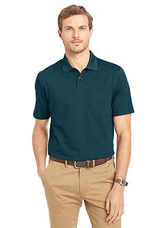Van Heusen Big & Tall Short Sleeve Feeder Stripe Polo Shirt
