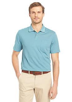 Van Heusen Big & Tall Short Sleeve Feeder Stripe Polo Shirt