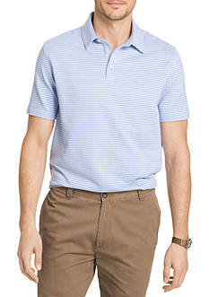 Van Heusen Big & Tall Check Short Sleeve Polo Knit Shirt
