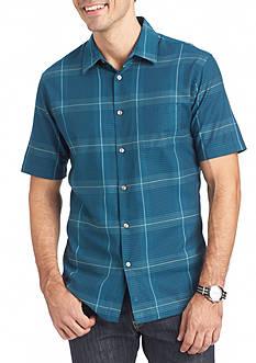 Van Heusen Big & Tall Short Sleeve Windowpane Sport Shirt