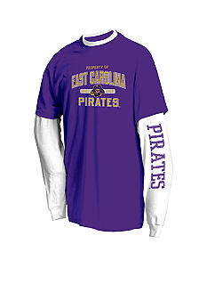 J. America East Carolina Pirates 2Pk Tees