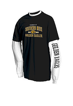 J. America Southern Miss Golden Eagles 2Pk Tees