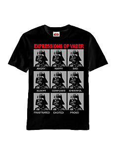 Mad Engine Expressions of Darth Vader Graphic Tee