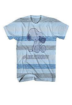 Mad Engine Stripe Snoopy Tee