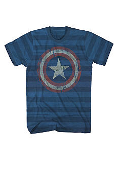 Mad Engine Captain America Striped Tee