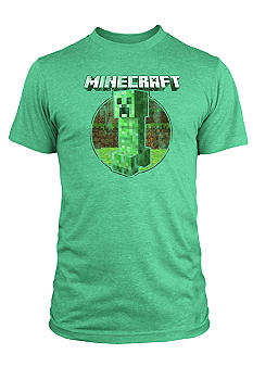 New World Sales Minecraft Retro Creeper Screen Tee