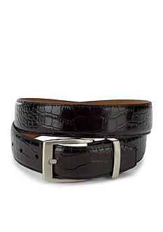 Greg Norman Collection Signature Crocodile Dress Belt