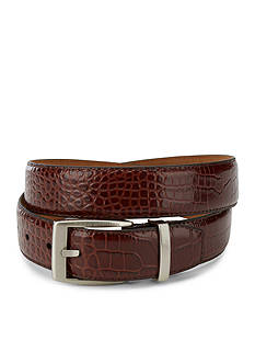 Greg Norman Collection Signature Crocodile Dress Belt
