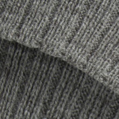 Perry Ellis: Charcoal Perry Ellis Ribbed Beanie Hat