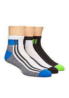 SB Tech Marled Print Quarter Socks - 3 Pack