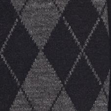 Men: Saddlebred Cold Weather Shop: Charcoal Saddlebred Argyle Flat Knit Scarf