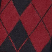 Men: Saddlebred Cold Weather Shop: Wine Saddlebred Argyle Flat Knit Scarf