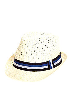 Saddlebred Straw Fedora with Nautical Ribbon