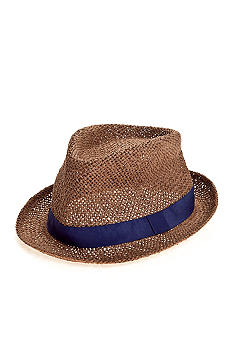 Saddlebred Straw Fedora with Ribbon